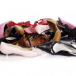 Heap of the ladies' shoes — Stock Photo