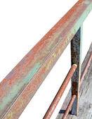 Rusty metallic line construction concept — Stock Photo