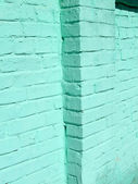 Green vintage brick wall, construction — Stockfoto