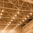 Stock Photo: Yellow interior warehouse lighting