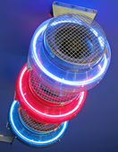 Blue, red melal light concept — Stock Photo