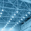 Stok fotoğraf: Blue interior warehouse lighting