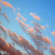 Blue sky, sunset concept — Stock Photo