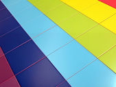 Colorful tiled rectangles construction concept — Stock Photo