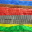 Royalty-Free Stock Photo: Colorful belt diversity, closeup concept.
