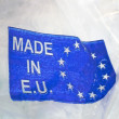 Stock Photo: Made in europeunion plastic package
