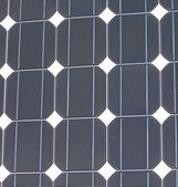 Solar panel closeup texture, industrial equipment — Stock Photo