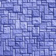 Random brick wall background, blue construction details — Stock Photo