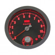 Isolated speed meter control panel with red numbers. — Stock Photo