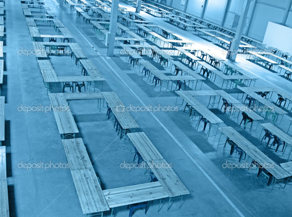 Interior blue color warehouse construction. nobody, industrial concept — Stock Photo #3776445