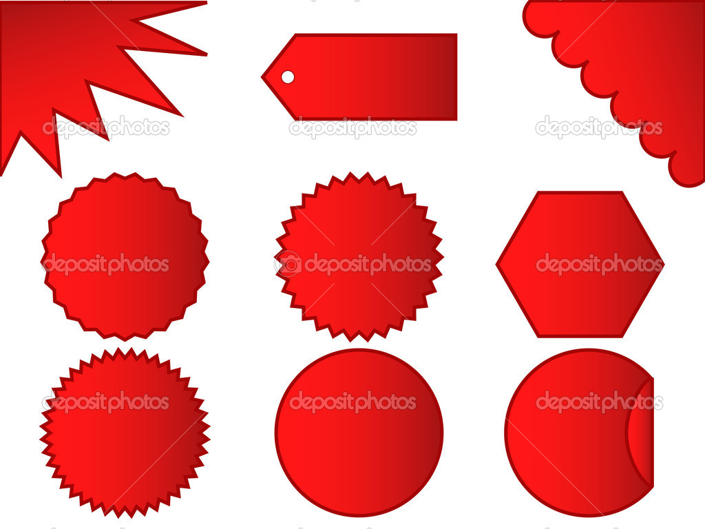 Set of different types of sale stickers  Stock Vector #2844157