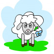 Happy sheep - Stock Vector