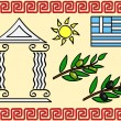 Greece symbols — Stock Vector