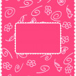 Girly card — Stock Vector