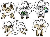 Sheep — Vector de stock