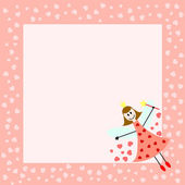 Pink fairy card — Stock Vector