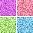 Seamless curly patterns — Stockvectorbeeld