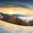 Sunrise in mountains — Stock Photo