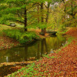 Autumn landscape with the river — Foto Stock