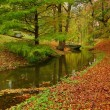 Autumn landscape with the river — Stockfoto
