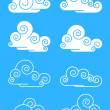 Clouds — Stock Vector