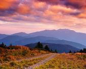 Dawn in mountains — Stock Photo