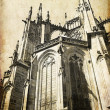 Stock Photo: Cathedral of st. Vitus, Vaclav and Voiteha. Prague,Czech Republic. View