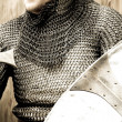 Knight in vintage style - Stock Photo