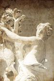 Statue At Schloss Sans Souci. Photo in old image style. — Stock Photo