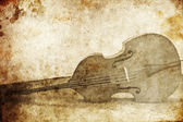 Contrabass. Photo in old image style — Stock Photo