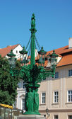 An ancient lamp post at the Prague castle in the Czech republic — Stock Photo