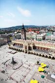 Main Market Square Cracow Poland — Stock Photo