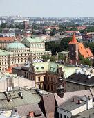 Panorama över staden krakow — Stockfoto
