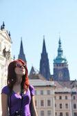 Portret van meisje in praag, cz — Stockfoto