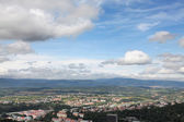 Panoramic view over Karlovy Vary, CZ — Stock Photo