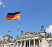Detail of The Reichstag, the German Parliament, in Berlin, Germany — Stock Photo