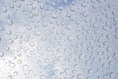 Water drops on a car roof window — Stock Photo