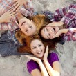 Portrait of three beautiful girls. — Stock Photo