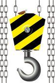 Hook. The elevating mechanism. — Stock Vector