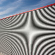 Stock Photo: Corrugated facade