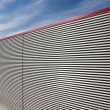 Corrugated facade — Stockfoto