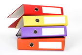 Color file folders — Stock Photo