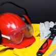 Red helmet - Stock Photo