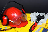 Red helmet — Stock Photo