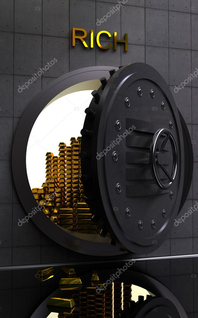 The big safe with gold  Stock Photo #2762787