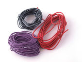 Close up of multicoloured wire — Stock Photo