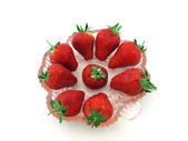 Fresh organic strawberries. — Stock Photo