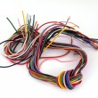 Close up of multicoloured wire - Stock Photo