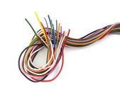 Close up of multicoloured wire — Stock Photo