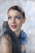 Bright glamorous beauty — Stock Photo